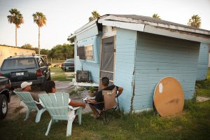 A broken down shack of a family in the South in Brownsville Texas. (2012)