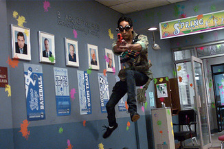 """Abed, in the famous """"paintball episode,"""" Modern Warfare"""