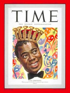 Louis Armstrong on the cover of TIME Magazine, 1949 (Artzybasheff)