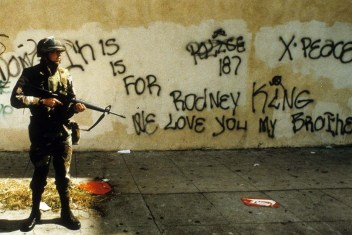 Photo taken during the 1992 Los Angeles riots.