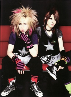 J-Pop LM.Cs' lead singer Maya(left) and lead guitarist Aiji(Right)