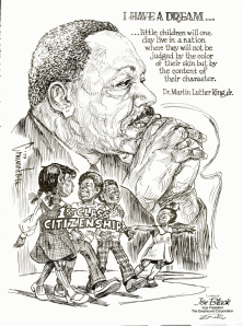 Drawing of Martin Luther King Jr. published in Ebony Magazine 1980 http://www.ebony.com/archives#axzz2RVU8BU37