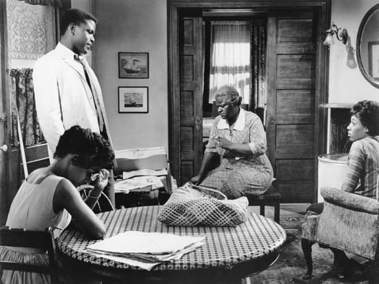 """Image from Lorraine Hansberry's play """"A Raisin in the Sun"""" 1961"""