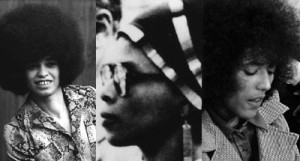 Angela Davis, Assata Shakur (a.k.a. JoAnne Chesimard), and Elaine Brown, three of the few women recognized as major influences during the Black Arts Movement.