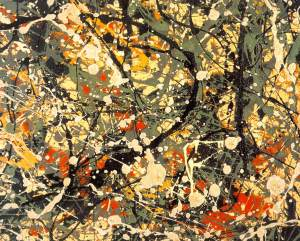 Pollock, Number 8, 1949, enamel/oil