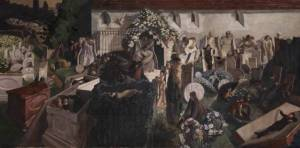 """Spencer, Sir Stanley. """"The Resurrection, Cookham 1924-7."""" Tate Britain. Tate Britain, July 2007. Web. 18 Sept. 2013."""