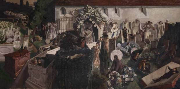 The Resurrection, Cookham. 1924-7. Oil on canvas. 2743x5486 mm. Tate Britain, London.