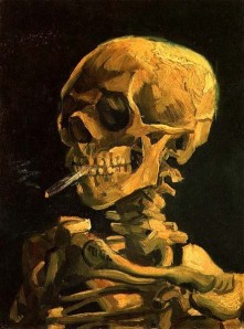 Vincent van Gogh, Skull with Burning Cigarette