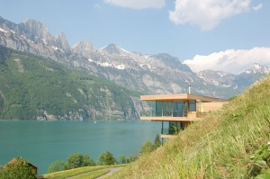 Modern House By The Lake In Switzerland, km Architektur