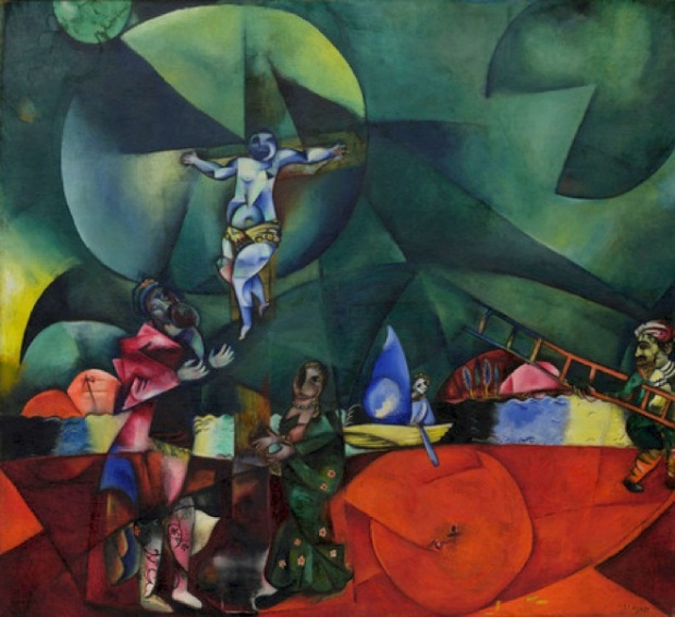 Marc Chagall, Calvary, 1912, oil on canvas, Museum of Modern Art