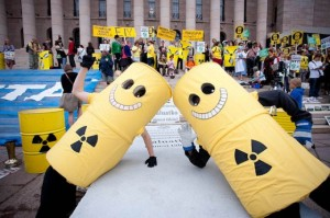See, nothing to fear. How friendly of you, nuclear energy!