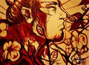 Crying Samurai Painting