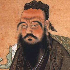 A painting of the great teacher Confucius.
